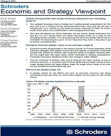 Schroders economic and strategy viewpoint: August Summary