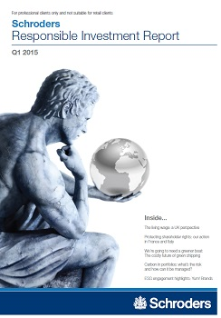 Schroders Resposible Investment Report front page