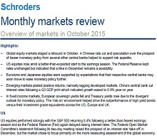 Schroders monthly markets review - November 2015