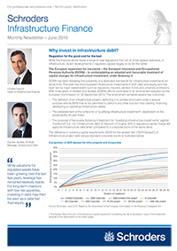 Infrastructure Finance Newsletter – exemplary page 1