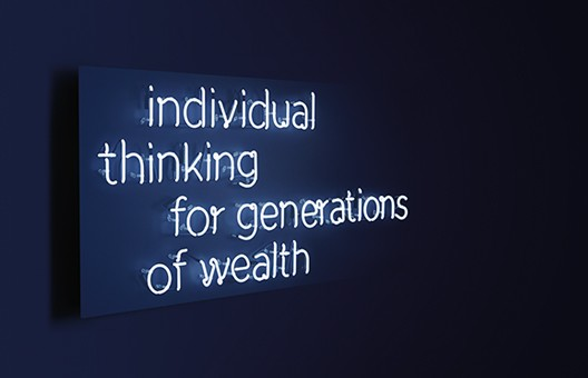 Schroders Wealth management Neon Sign Generations of Wealth
