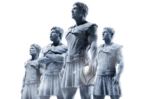 Schroders rugby statues