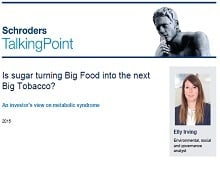 Schroders ESG team investigates sugar's impact on big food companies