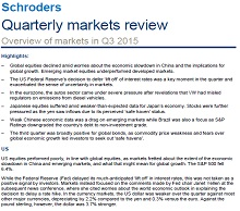 page one of Schroders Q3 2015 Quarterly Market Review