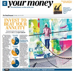 Telegraph schroders invest to beat your annuity PDF screenshot