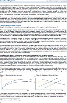 Screenshot of page 2 Schroders report on the impact of climate change on the global economy