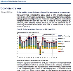 Schroders economics team discuss the impact of a strong dollar and cheap oil on the global economy