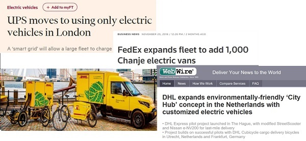 Electric delivery headlines