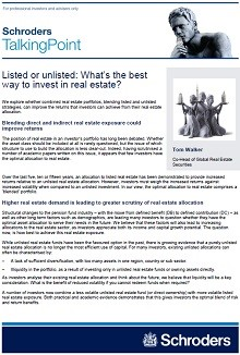 Schroders Listed or unlisted: What's the best way to invest in real estate? Page 1