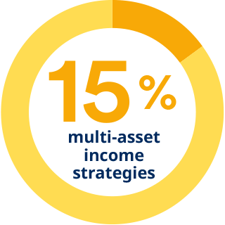 15% in multi-asset income strategies