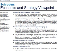 Schroders Economic and Strategy Viewpoint September 2015 - page 1