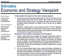 Schroders Economic and Strategy Viewpoint examines global economic trends